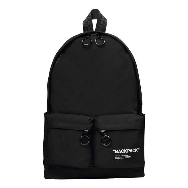 Off-White PS20 Quote Backpack, Black/White