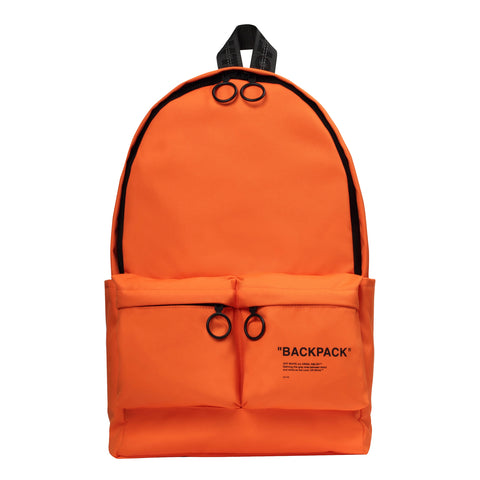 Off-White PS20 Quote Backpack, Orange/Black