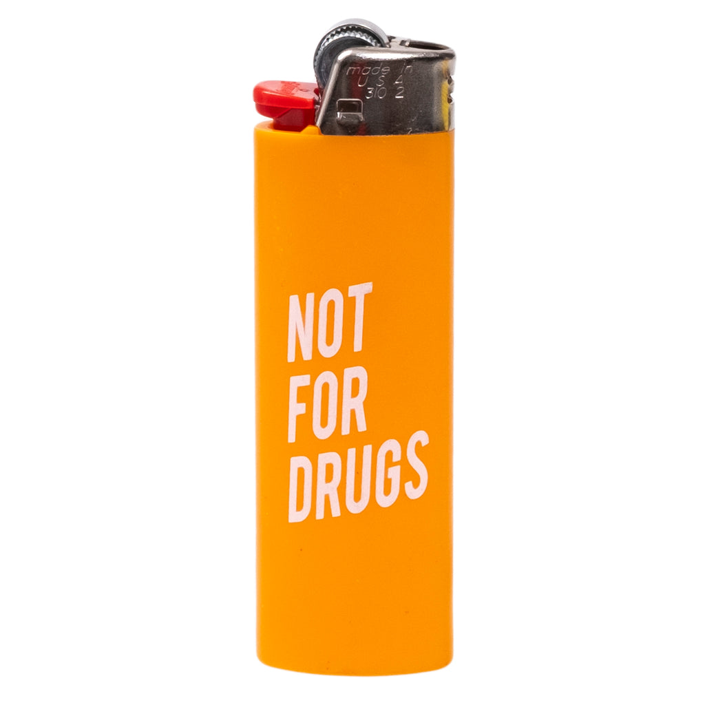 RSVP Gallery Not For Drugs Lighter, Orange/White