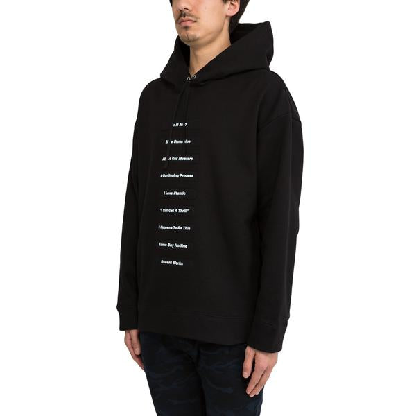 Raf Simons Classic Hoodie With Printed Patches