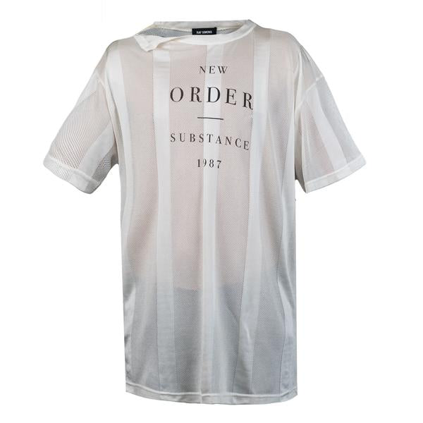 Raf Simons REGULAR FIT NET T-SHIRT NEW ORDER PS