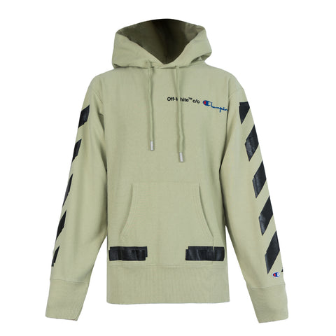 Off White CHAMPION HOODIE (Beige/Black)