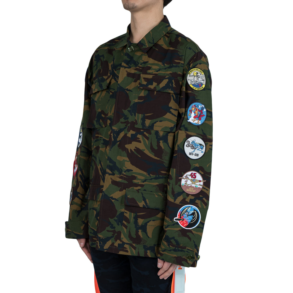 Off White CAMOU FIELD JACKET ALL OVER (Camo)
