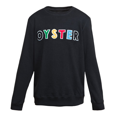 Oyster Chenille Crew (Black)
