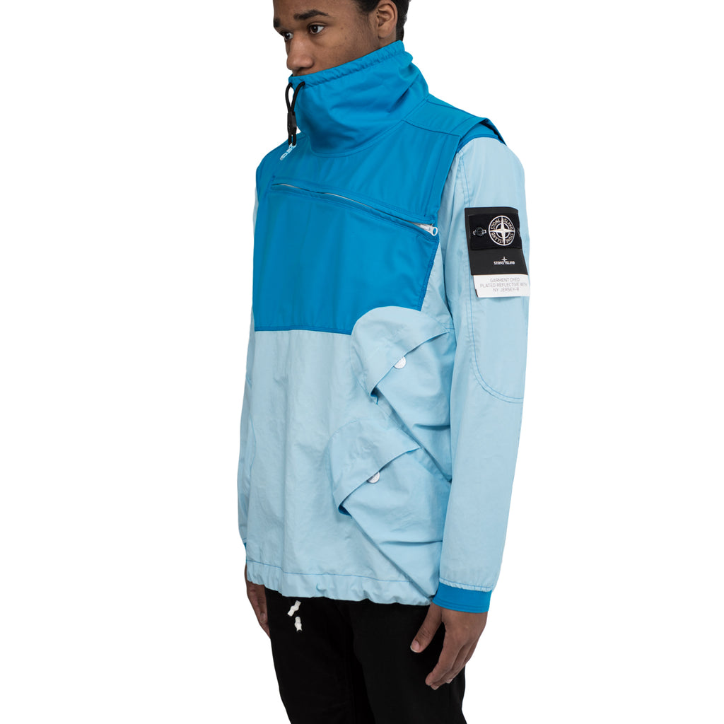 Stone Island 44999 GARMENT DYED PLATED REFLECTIVE WITH NY JERSEY-R Pullover Jacket