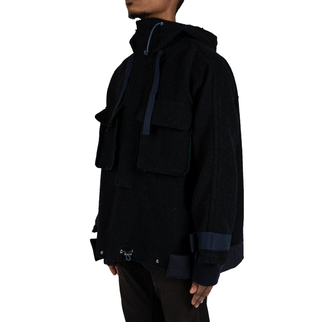 Sacai Double Face Wool Parka