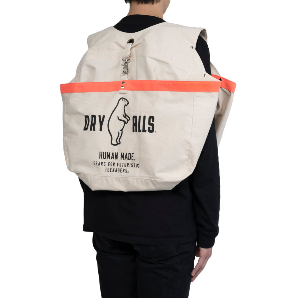 Human Made Canvas Paperboy Bib Bag (White)