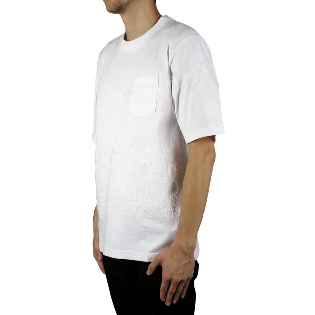 Sacai Embroidery Solid T-Shirt (White)