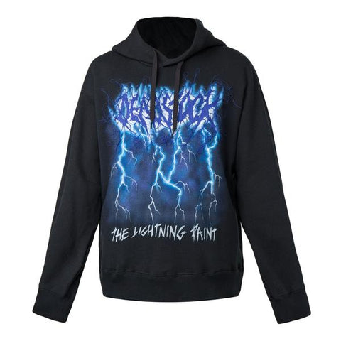 Doublet Deadstock Embroidery Hoodie with Hand Paint (Black)