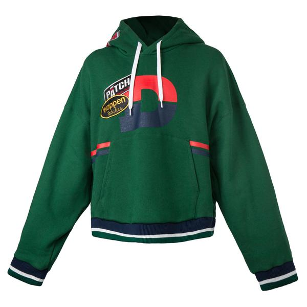 Doublet Flying Patches Hoodie (Green)