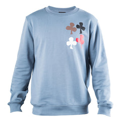 Raf Simons Cut Out Print Sweatshirt (Blue)