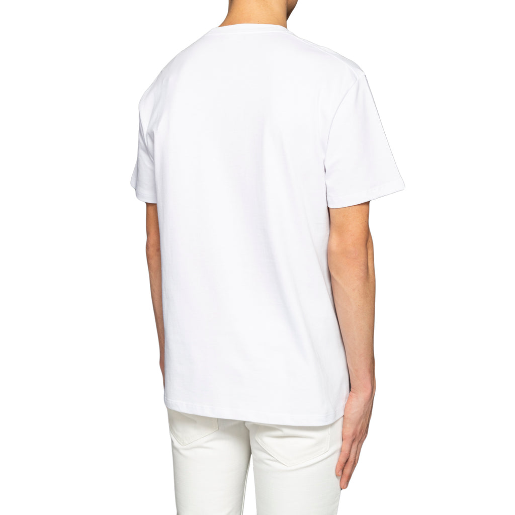 Raf Simons Slim Fit Pierced Mouth T-Shirt, White
