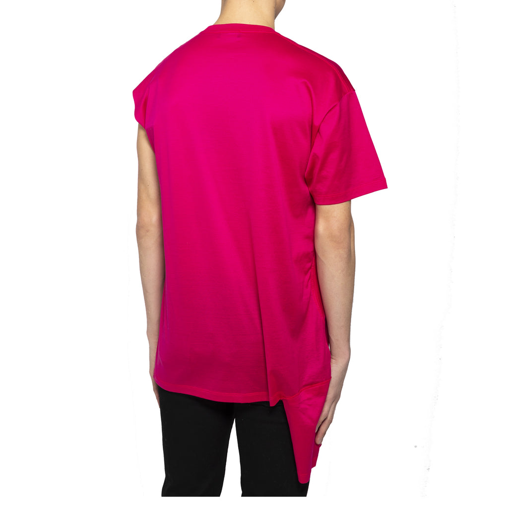 Raf Simons SS19 T-Shirt W/ Open Side, Fuchia