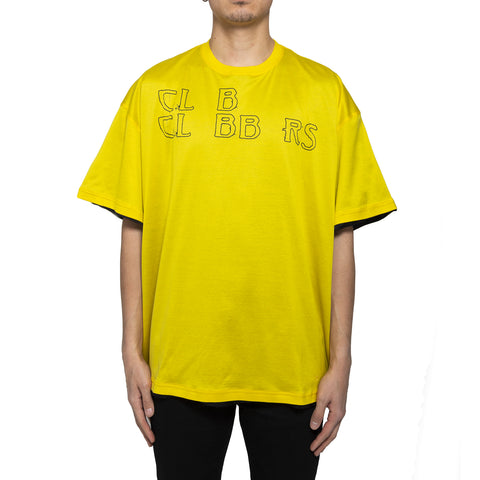 Raf Simons SS19 Lined T-Shirt W/ Print, Yellow