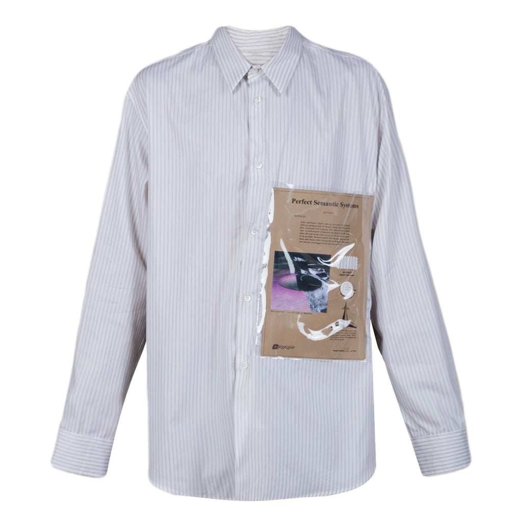 Raf Simons Long sleeve shirt with yoke and plastic pocket