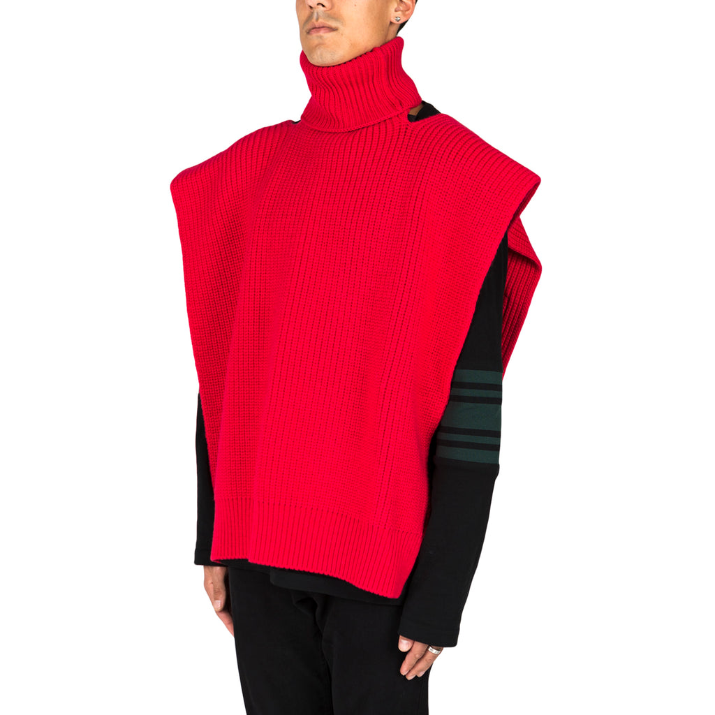 Raf Simons Turtleneck single panel with patches (Pink/Green)