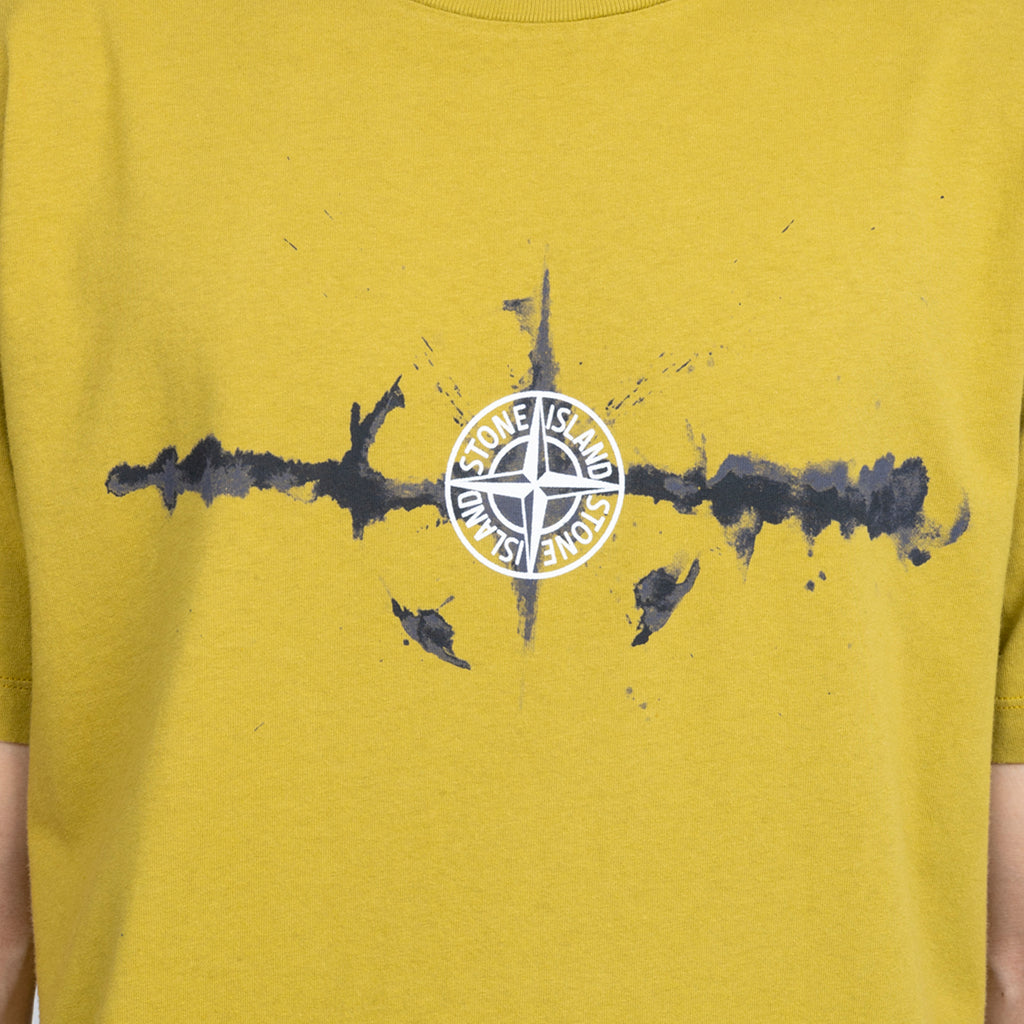 Stone Island FW19 'Graphic Six' T-Shirt, Mustard