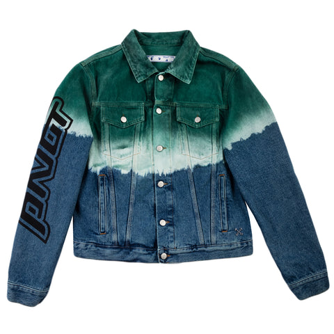 Off-White PF20 Pivot Degradè Slim Denim Jacket, Dark Blue/Green/Black