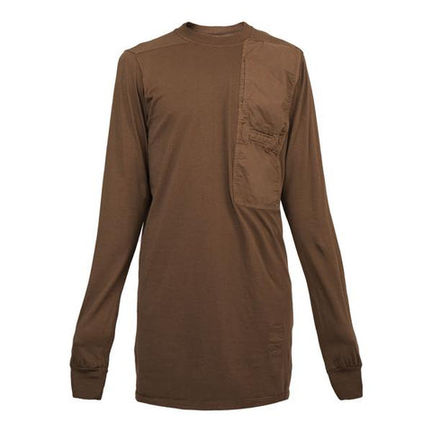 DRKSHDW by Rick Owens Woven L/S Pocket Tee, Caramel
