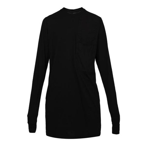 DRKSHDW by Rick Owens Woven L/S Pocket Tee, Black