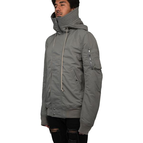 DRKSHDW by Rick Owens Hooded Short Bomber Jacket (Grey)