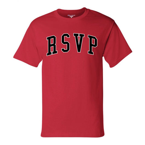 RSVP Gallery Arch Logo Tee, Red/Black