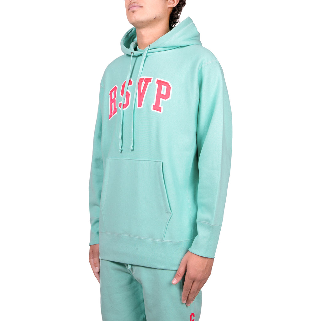 RSVP Gallery FW18 Tackle Twill Hoodie, Teal