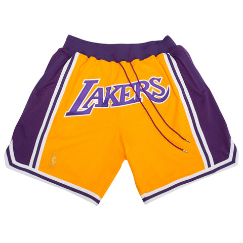 Just Don Los Angeles Lakers Shorts V2 (Yellow)
