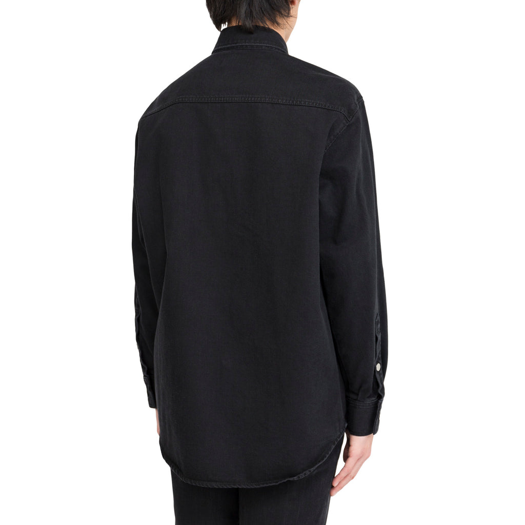 Raf Simons Carry Over Denim Shirt Black)