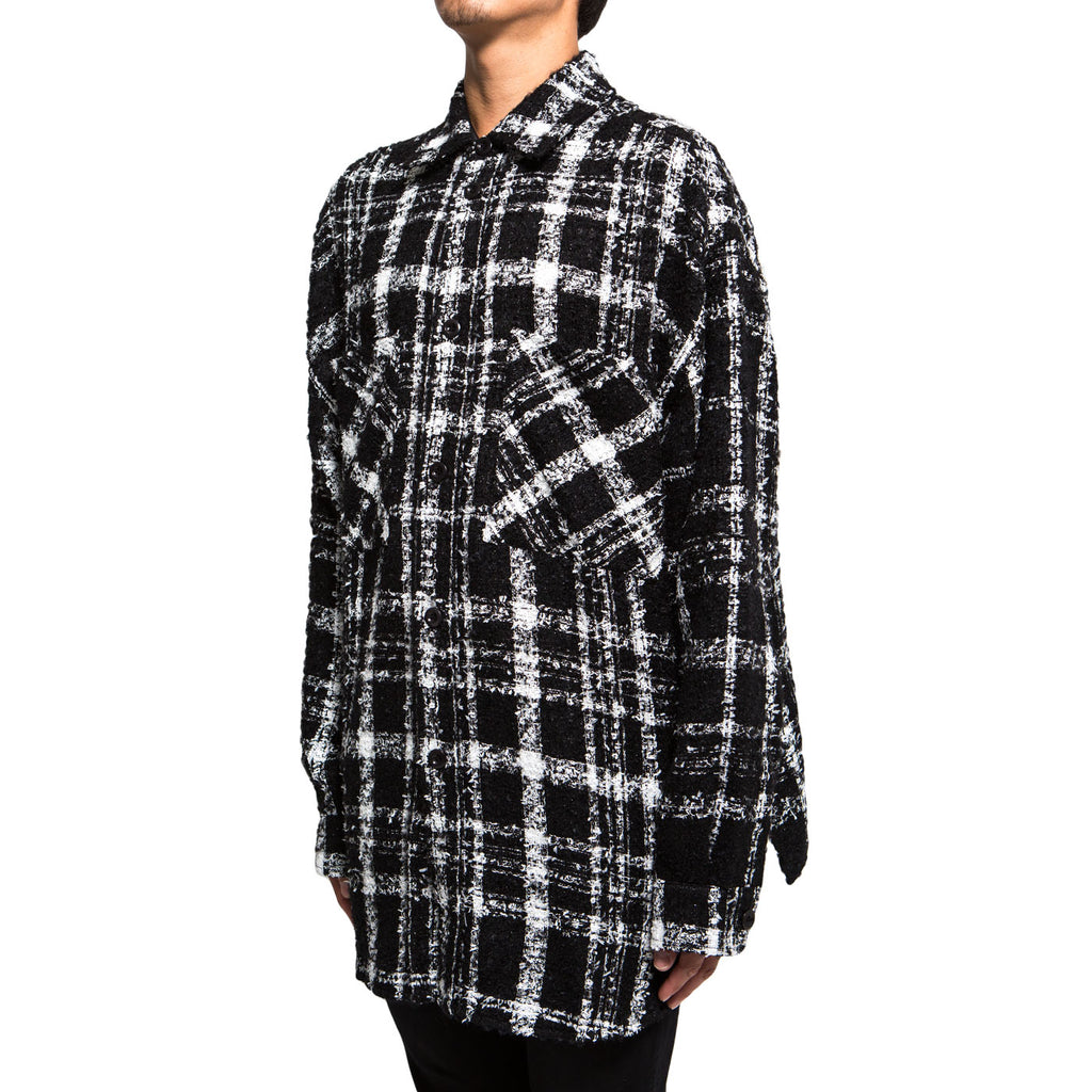 Faith Connexion Tweed Over Shirt (Black/White)