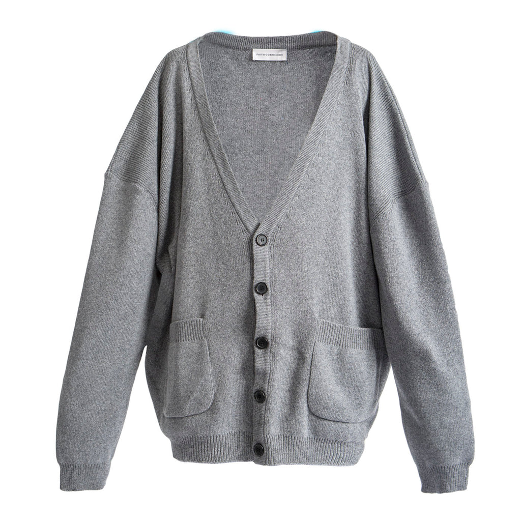 Faith Connexion Oversized Cardigan (Grey)