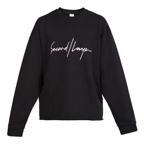 Second Layer Logo Script Pullover (Black)