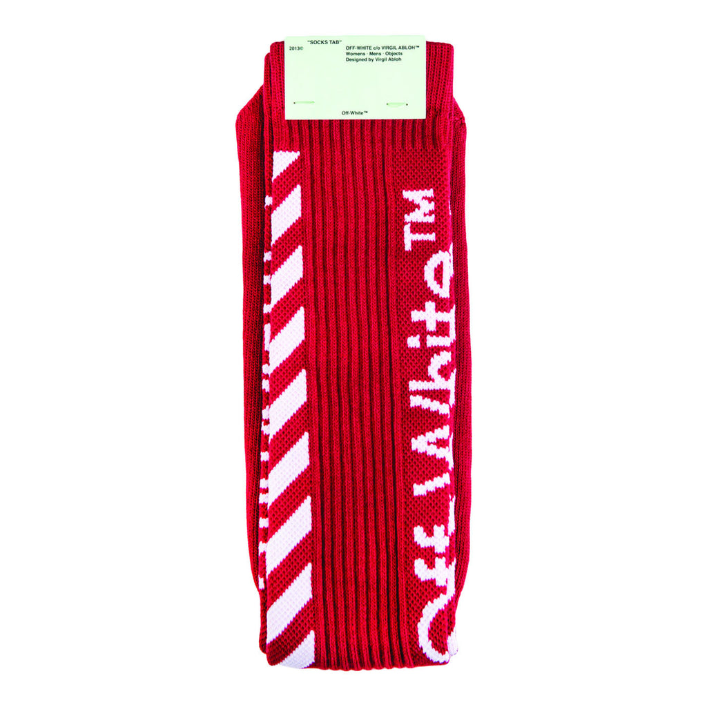 Off-White Diag Socks (Red) OS