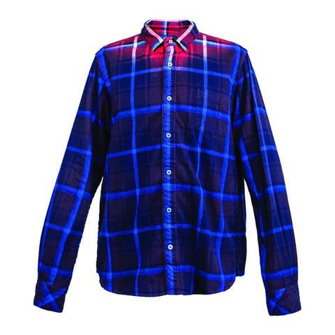 Sacai Flannel Plaid Shirt (Blue/Red)