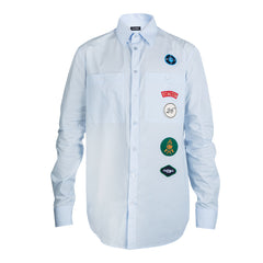 Raf Simons Scouts Shirt with Badges (Blue)