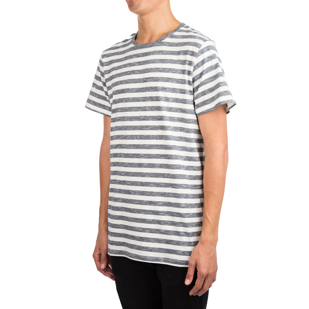 A.P.C. Jimmy Striped Tee (White/Navy)
