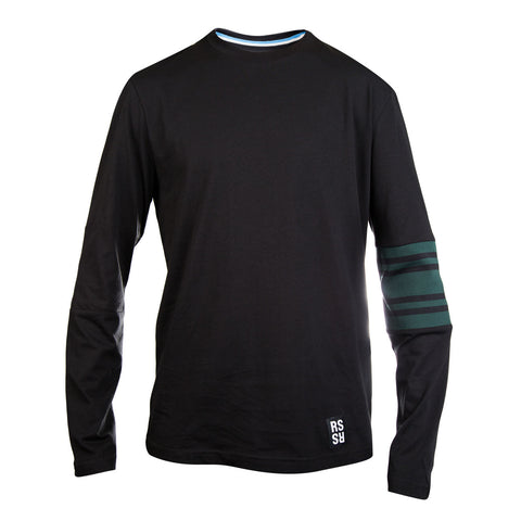 Raf Simons L/S Tee w/ Sleeve Stripes (Black)