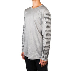 mastermind JAPAN Patches Long Sleeve Tee (Gray)