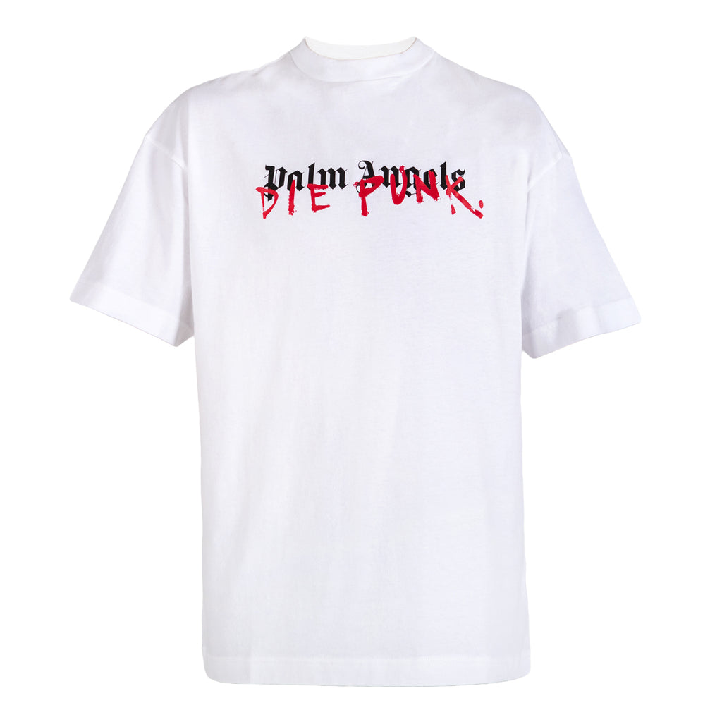 Palm Angels Die Punk SS Tee, White/Multi