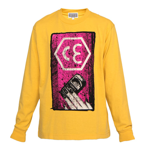 Cav Empt Hex CE Long Sleeve Tee (Orange)