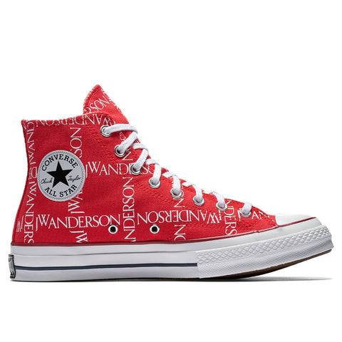 Converse x JW Anderson Chuck Taylor® All Star® 70 Grid Sneaker, Flame Scarlet/White