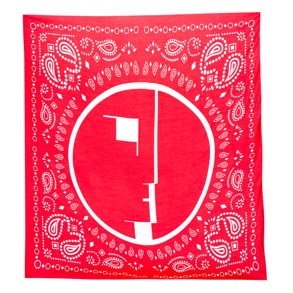 Midnight Studios Oversized Bandana Scarf (Red)