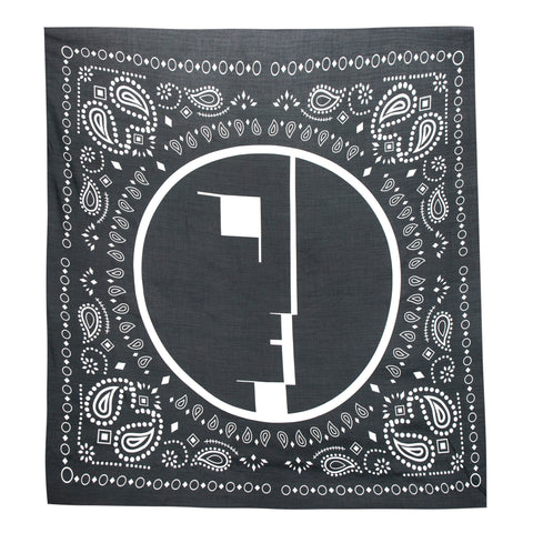 Midnight Studios Oversized Bandana Scarf (Black)