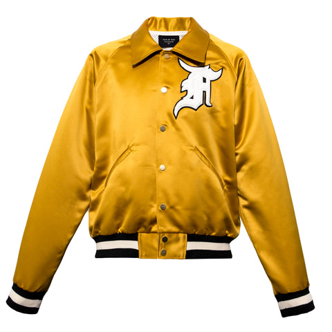 Fear Of God Satin Baseball Coaches Jacket (Gold)