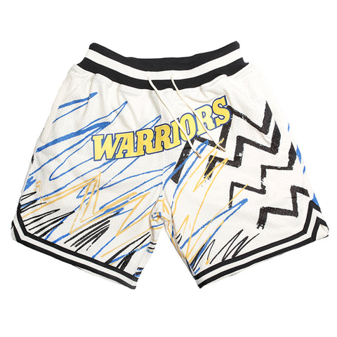 Just Don Sublimated Shorts, Golden State Warriors