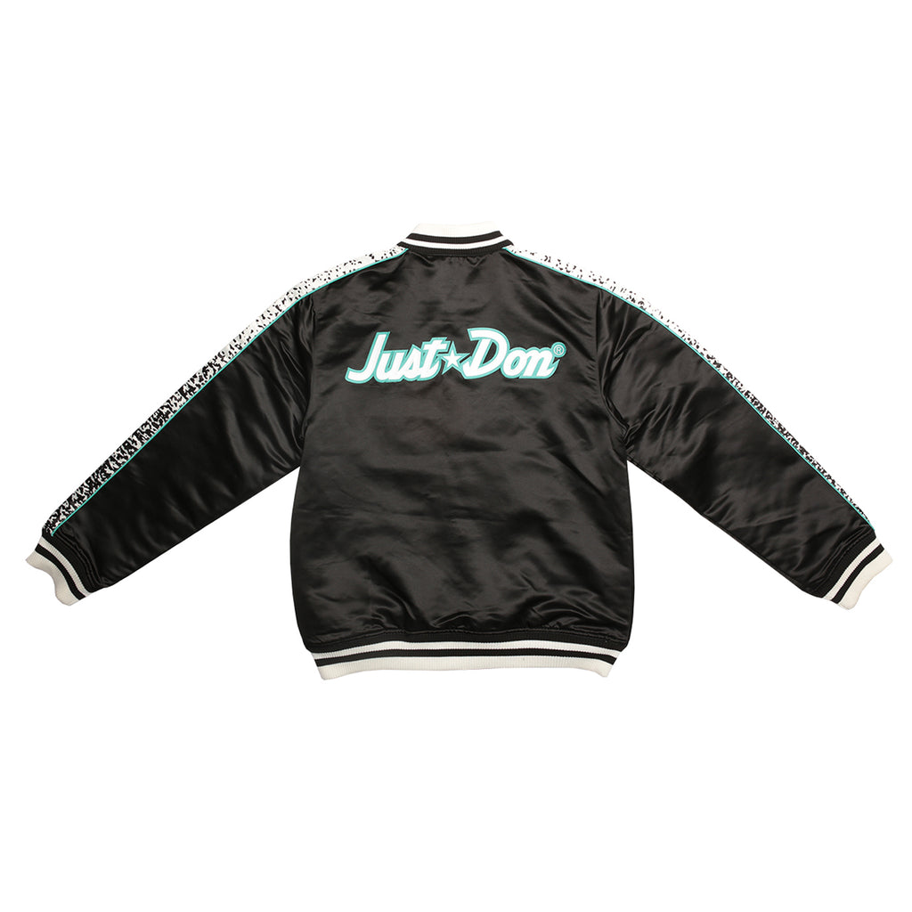 Just Don Satin Jacket NBA Logo