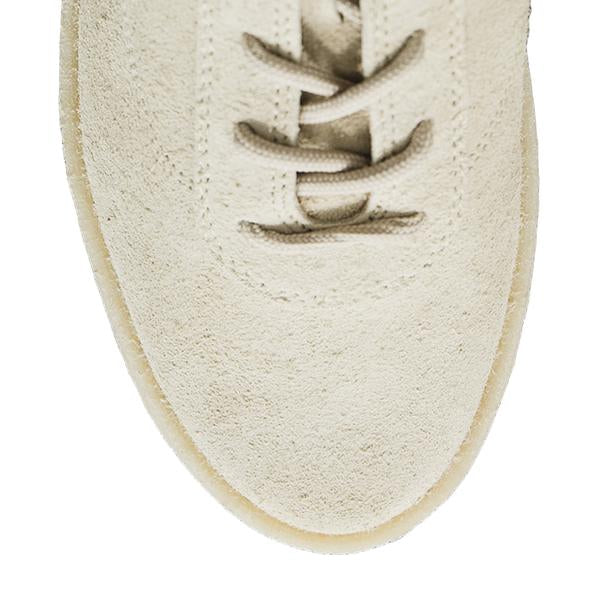 Yeezy S6 Men's Crepe Sneaker In Thick Shaggy Suede, Chalk