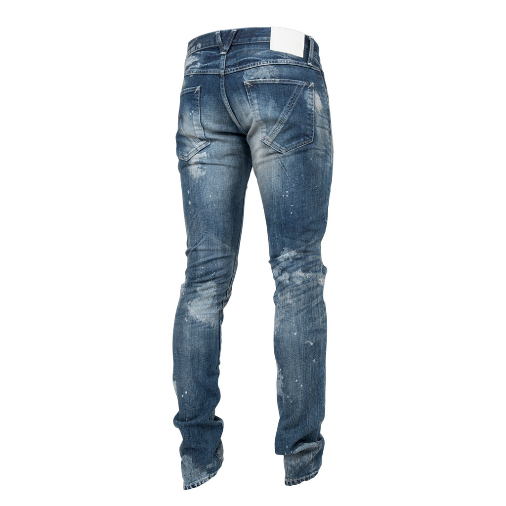 Clot x Vanquish Damaged Skinny Fit Denim (Indigo)