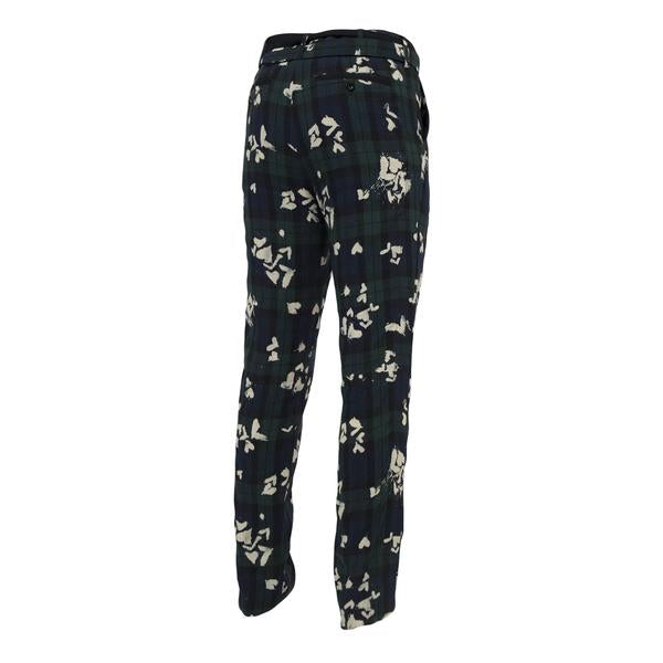 Sacai Bleach Heart Print Pants