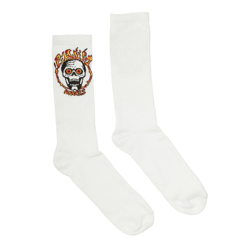 Palm Angels Burning Skull Socks